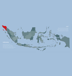 Template indonesia map and province aceh vector