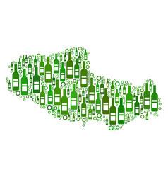 Tibet chinese territory map mosaic of wine bottles vector