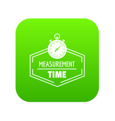 timer icon green vector image