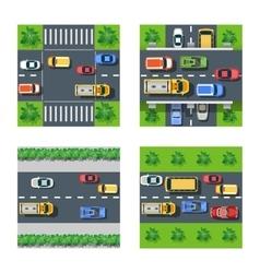 Traffic Transportation set vector