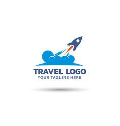 Travel agency logo design vector