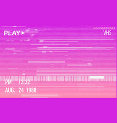 Vhs camera effect with glitch vector