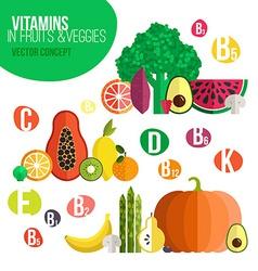 Vitamine infographic vector image