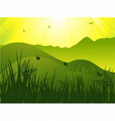 wild landscape vector image