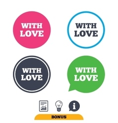 With Love sign icon Valentines day symbol vector image