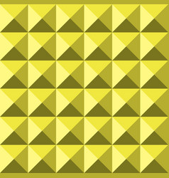 Yellow background abstract pyramidas texture vector