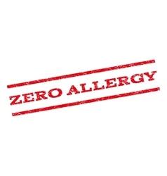 Zero Allergy Watermark Stamp vector