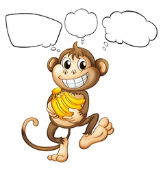 A monkey with bananas vector image