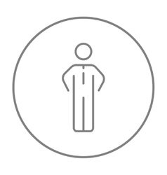 Businessman standing line icon vector image