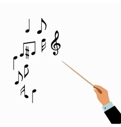 Conductor hands concept vector image