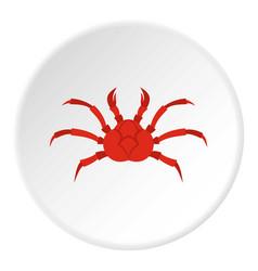 Red king crab icon circle vector