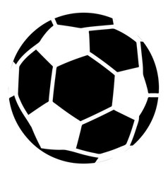 soccer icon simple black style vector image vector image