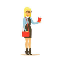 student lifestyle colorful character vector image