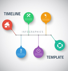 Web Infographic Timeline Template Layout With vector image