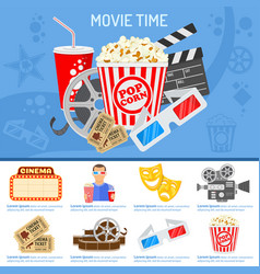 cinema and movie time concept vector image