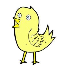 comic cartoon tweeting bird vector image vector image