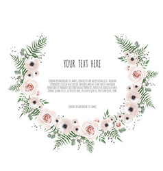 floral frame with place for your text can vector image