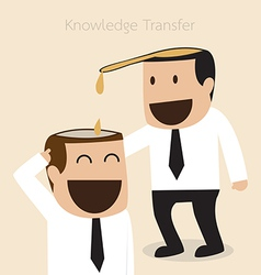 Knowledge transfer concept vector image vector image