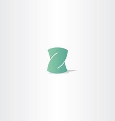 light green letter z logotype element design vector image vector image