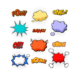replicas in form of clouds bubble speeches vector image vector image
