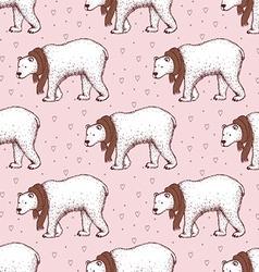 Sketch polar bear vector image vector image
