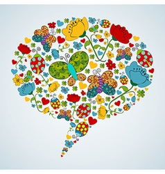 Spring social media bubble speech vector image vector image