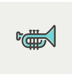 Trumpet thin line icon vector image vector image