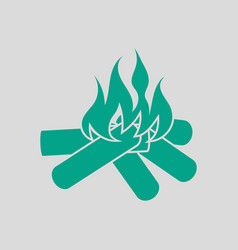 Camping fire icon vector