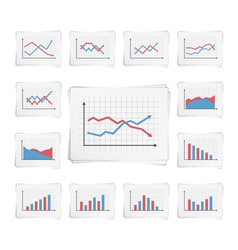 Charts vector image vector image