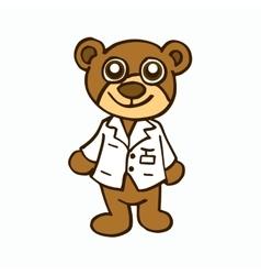 Doctor bear character design for kids vector