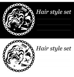 hair style logo vector image vector image
