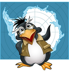Penguin lecturer vector image vector image