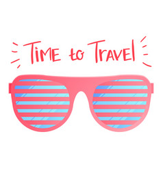 sun glasses travel vector image