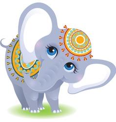 baby elephant isolated on white background vector image vector image