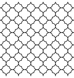 Black and white arabic traditional geometric vector image vector image