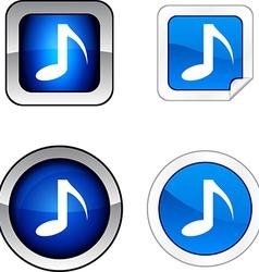 Music sound audio note tone vector
