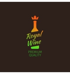 Royal wine premium quality colorful logo vector