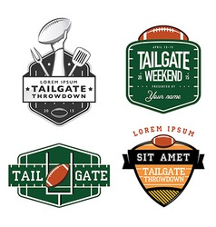 Set of American football tailgate design elements vector image vector image