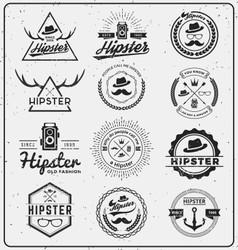 Set of hipster insignia logo design for logo vector