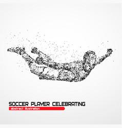 soccer player celebrating vector image vector image