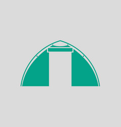 touristic tent icon vector image