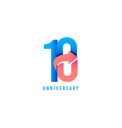 10 year anniversary logo template design vector