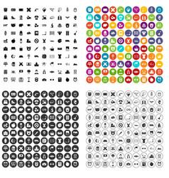 100 alarm clock icons set variant vector