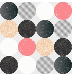 Abstract seamless pattern with textured circles vector image