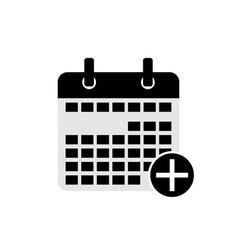 add calendar date icon symbol vector image