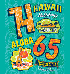 aloha from hawaii paradise island vector image
