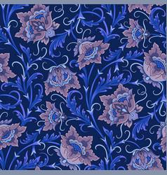 arabic pattern blue vector image vector image