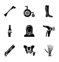 Artificial limb icons set simple style vector