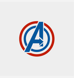 Avengers logo isolated icon symbol avengers vector
