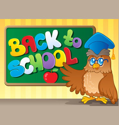 back to school thematic image 3 vector image